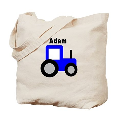 Adam - Blue Tractor Tote Bag