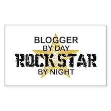 Blogger Rock Star Rectangle Decal