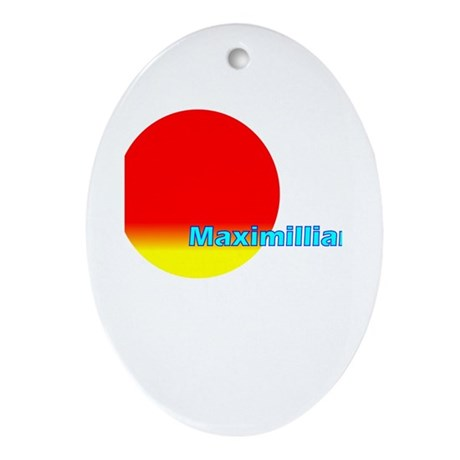 Maximillian Oval Ornament