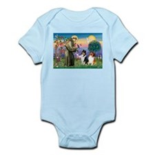 St Francis / Collie Pair Infant Bodysuit
