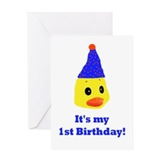 My first birthday duck Greeting Card