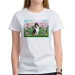 Blossoms / Collie (tri) Women's T-Shirt
