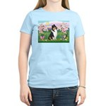 Blossoms / Collie (tri) Women's Light T-Shirt