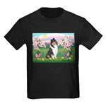 Blossoms / Collie (tri) Kids Dark T-Shirt