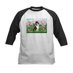 Blossoms / Collie (tri) Kids Baseball Jersey