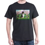 Blossoms / Collie (tri) Dark T-Shirt