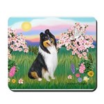Blossoms / Collie (tri) Mousepad