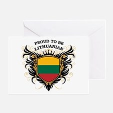 Proud to be Lithuanian Greeting Card