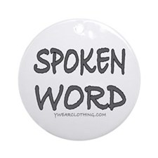 Spoken Word Ornament (Round)