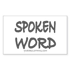 Spoken Word Rectangle Decal