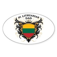 Number One Lithuanian Dad Oval Decal