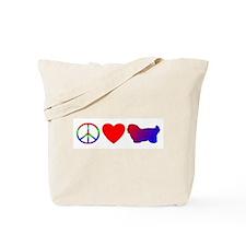 Peace Love Coton de Tulear Tote Bag