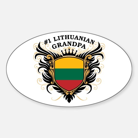 Number One Lithuanian Grandpa Oval Decal
