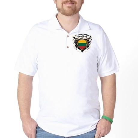 Number One Lithuanian Grandpa Golf Shirt