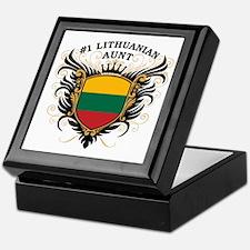 Number One Lithuanian Aunt Keepsake Box