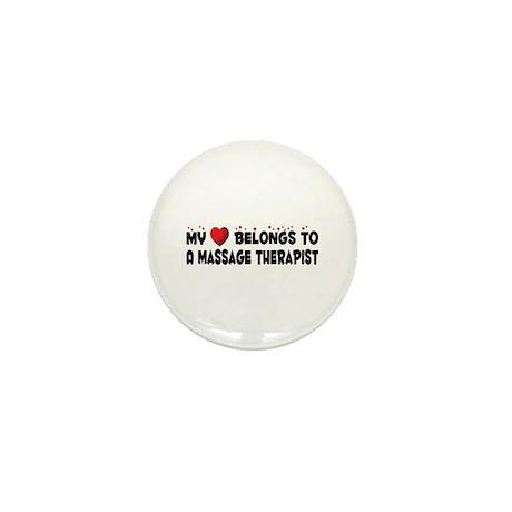 Belongs To A Massage Therapist Mini Button (100 pa