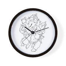 Ganesha Yoga Design Wall Clock