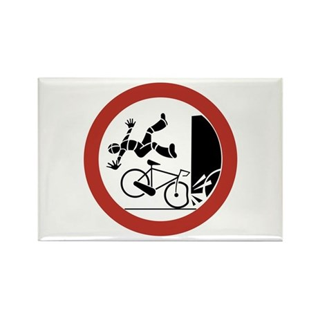 Bikers, Be Careful, Switzerland Rectangle Magnet