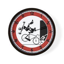 Bikers, Be Careful, Switzerland Wall Clock