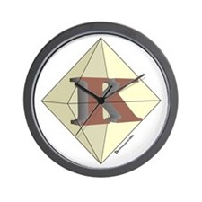 Diamond K Wall Clock