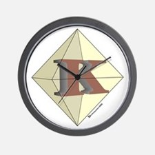 Diamond K Wall Clock