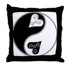 Lovely Ying Yang Throw Pillow