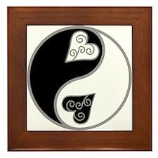 Lovely Ying Yang Framed Tile