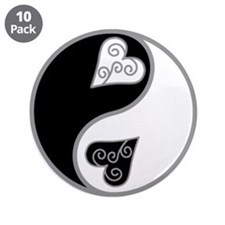 """Lovely Ying Yang 3.5"""" Button (10 pack)"""