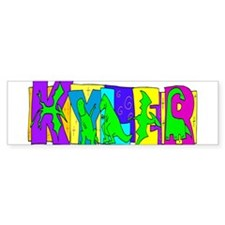 KYLER (DINOSAURS) Bumper Bumper Sticker