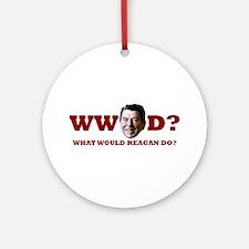 WW Reagan D? Ornament (Round)