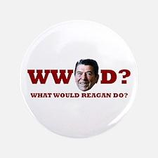 """WW Reagan D? 3.5"""" Button"""