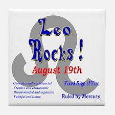 Leo August 19th Tile Coaster