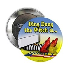 "Ding Dong the Witch is... 2.25"" Button (100 pack)"