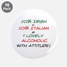 """With Attitude! 3.5"""" Button (10 pack)"""