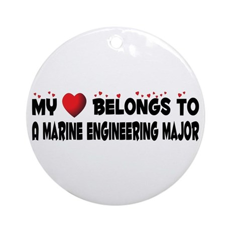 Belongs To A Marine Engineering Major Ornament (Ro