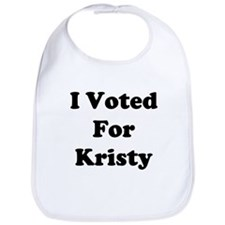 I Voted For Kristy Bib
