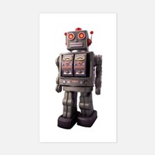 Vintage Robot Rectangle Decal