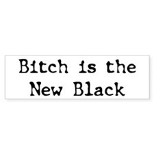 BitchinBlack Bumper Bumper Sticker