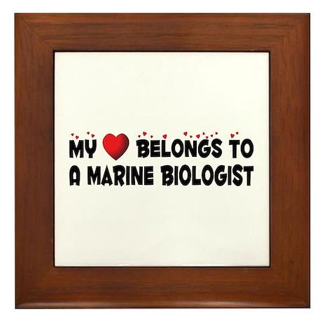 Belongs To A Marine Biologist Framed Tile