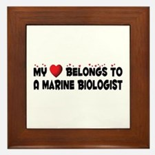 Belongs To A Marine Biologist Framed Tile