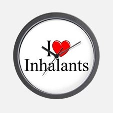 """I Love (Heart) Inhalants"" Wall Clock"