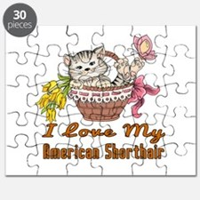 I Love My American Shorthair Designs Puzzle