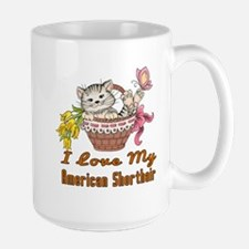 I Love My American Shorthair Designs Large Mug