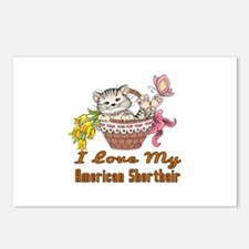 I Love My American Shorth Postcards (Package of 8)