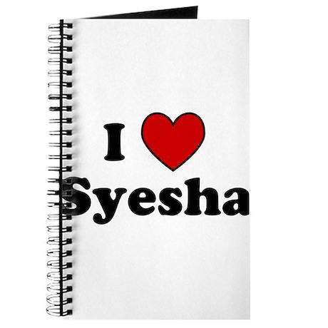I Heart Syesha Journal