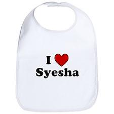I Heart Syesha Bib