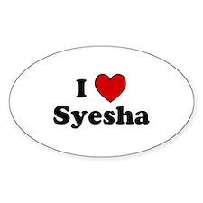 I Heart Syesha Oval Decal