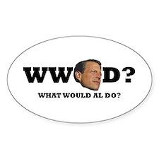 WW Al D? Oval Decal