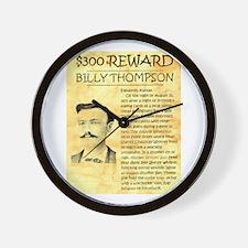 Billy Thompson Reward Wall Clock