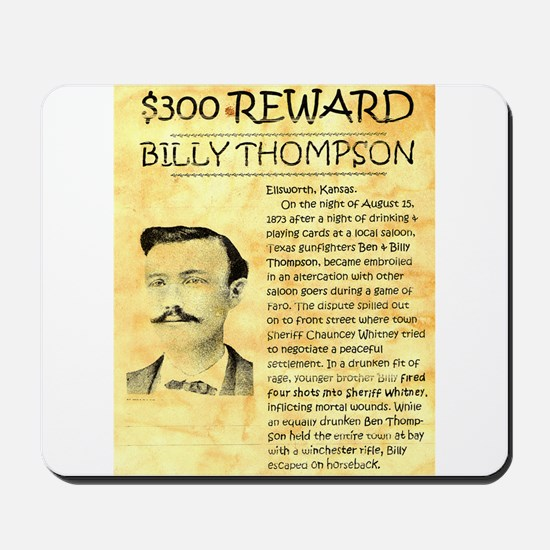 Billy Thompson Reward Mousepad